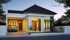 Excellent simple ideas for your inspiration Two Story House Design, Modern Small House Design, Modern Minimalist House, Simple House Design, House Front Design, Minimalis House Design, House Construction Plan, Modern Bungalow House, Simple House Plans