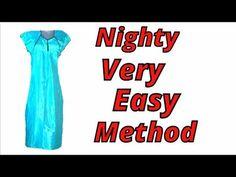 Nighty cutting and stitching (Elastic) easy method DIY Hindi stitching tutorial, with subtitles - YouTube