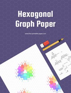A hexagonal graph paper ready to be printed on any letter size paper. #hex #graph #paper #chemistry #printable