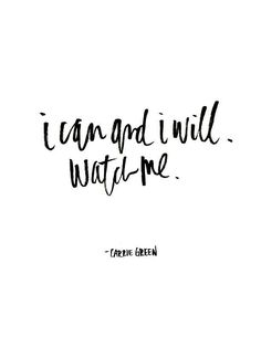 I can and I will, watch me.