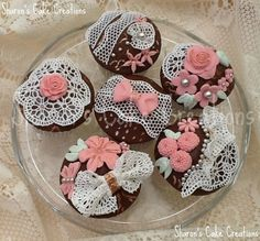 Wedding Style Cupcakes With Sugarveil on Cake Central