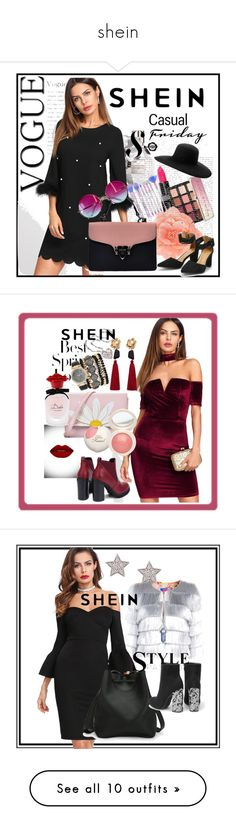 """""""shein"""" by edina-danis ❤ liked on Polyvore featuring Viktor & Rolf, Smashbox, Sephora Collection, Janis, Maison Michel, Suavecita, H&M, MANGO, Jessica Carlyle and Dolce&Gabbana"""