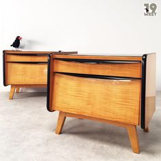 Two modernist night stands from the 1950's. #19west #vintage #retro #modernist #design #furniture #fifties #interior #interiordesign #möbel