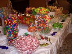 Pink Swan Events - Candy Bars (www.PinkSwanEvents.com)