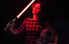 Force girl @madelynnxjade looking lovely by the light of her saber by: @force_girls