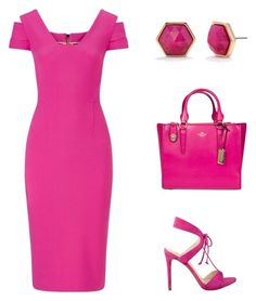 """""""Candy Girl"""" by simpleelegance-558 ❤ liked on Polyvore featuring Roland Mouret, GUESS, Coach and Trina Turk"""