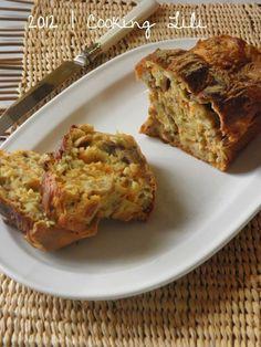 Cake aux marrons, champignons et carottes