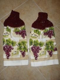 French Chateau Grapes Kitchen Decor Hanging Hand Towels Purchase Supports Troops