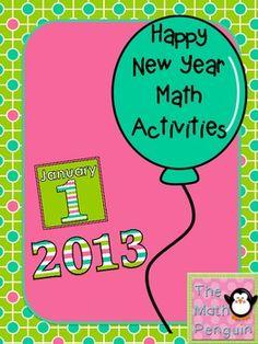 Happy New Year Math Activities