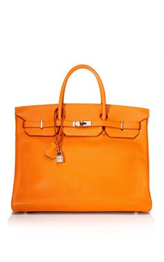 An Hermes Birkin in Hermes Orange?  Dream closet item for sure.