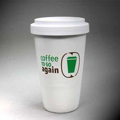 Coffee to go again-Becher aus Porzellan gegen den Wegwerfwahn - jetzt bei uns im Shop!