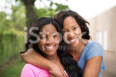 Mother and  teenage daughter royalty-free stock photo