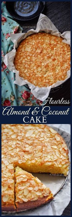 A GLUTEN FREE Flourless Almond and Coconut Cake that's moist, tender and incredibly delicious. It takes just few minutes to whip up this recipe, best for busy days.