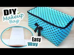 )Bag DIY: 19 simple hobo bag patterns, tutorials, and free DIY sewing projects. Sew shoulder bags, slouchy and tote bags. Great project for a beginner. Diy Bags Easy, Diy Bags No Sew, Simple Bags, Makeup Bag Tutorials, Diy Makeup Bag, Diy Sewing Projects, Sewing Tutorials, Makeup Bag Pattern, Diy Pouch Tutorial