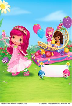 Strawberry Shortcake and her berry best friends in their T.V. ...