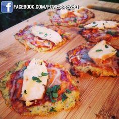 BBQ-Hähnchen Blumenkohl Pizza