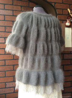 Sweatshirts and sweaters handmade. Blouse Tunnel- Кофты и свитера ручной работы. Кофточка Тун… Sweatshirts and sweaters handmade. Arts and crafts fair. Hand Knitting, Knitting Patterns, Mohair Sweater, Chantilly Lace, Tunic Blouse, Craft Fairs, Crochet, Lace Dress, Silk