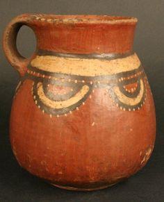 Jarro policromo. Cultura Maytas-Chiribaya. Materiales: Cerámica  Periodo: Intermedio Tardío 1100- 1470 d.C.