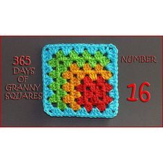 365 Days of Granny Squares Number 16 - YouTube❤