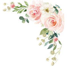 Floral Watercolor Background, Watercolor Border, Watercolor Flowers, Saree Painting Designs, Flower Graphic Design, Flower Art Images, Flower Clipart, Floral Border, Jungle Animals