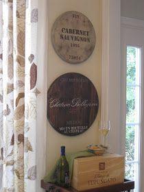 Ballard Designs Knock-Off: Wine Barrel Plaques