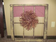 Primitive Country Antique Vintage Window by CountryCraftWindows, $40.00