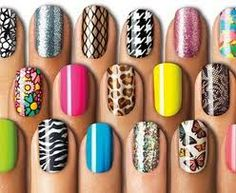 full color nails