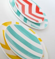 if i create a plate wall one day, it would be neat to buy some cheap-o plates from target and paint them fun patterns