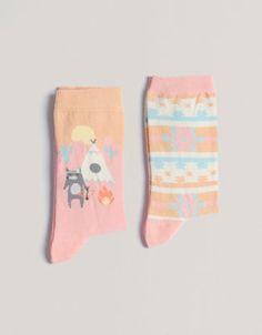 Pack of wolf pattern socks OYSHO
