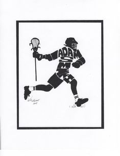 Personalized Sport Figure -  Lacrosse Men's