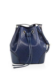 Gucci - Bright Diamante Leather Bucket Bag - Saks.com