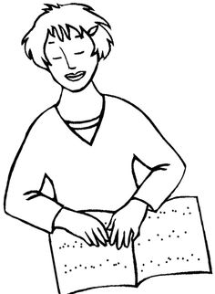 The Girl Disabilities Blind Coloring Page
