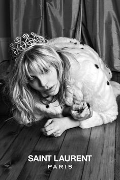 Courtney Love Image of Saint Laurent Premieres its New Music Project