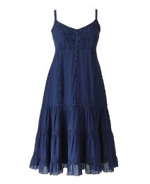 Crochet Trim Tiered Dress