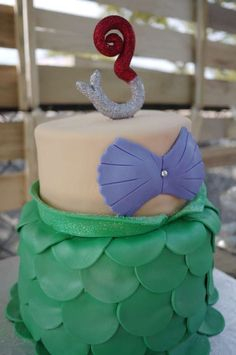 Mermaid Birthday Party cake!  See more party planning ideas at CatchMyParty.com!
