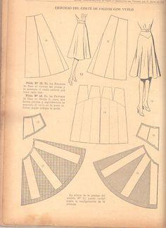 Understanding The Vintage Sewing Pattern - Sewing Method Doll Dress Patterns, Vintage Dress Patterns, Clothing Patterns, Shirt Patterns, Vintage Skirt, Pola Rok, Pattern Cutting, Pattern Making, Pattern Drafting