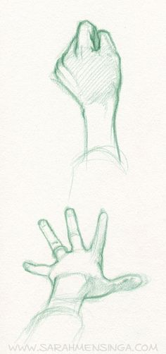Getting better at drawing hands. I should try to draw these