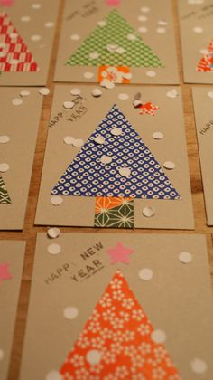 I hope you all had a very tasty and happy Christmas! In any case we did! On Christmas Eve i started with these Christmascards, just in time! Chrismas Cards, Diy Christmas Cards, Noel Christmas, Winter Christmas, Handmade Christmas, Holiday, Christmas Projects, Christmas Crafts, Tarjetas Diy