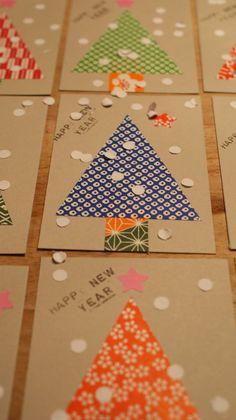 Kaarten maken voor kerst/nieuwjaar