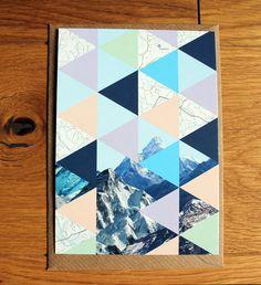 triangle love    Berg trifft Dreieck Collage Postkarte samt von nininotschka auf Etsy, €1,50