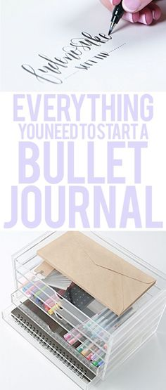 THE BEST list for starting a bullet journal or planner