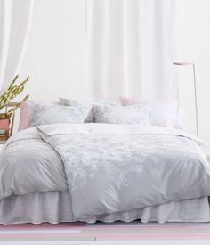 Lazy mornings! Duvet cover set in cotton with a printed pattern   H&M HOME