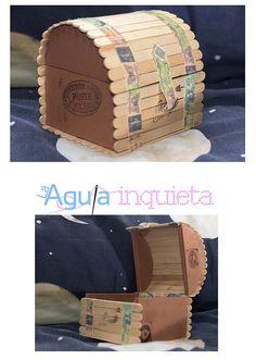 caja joyero, diy, handmade, palos helado, cofre