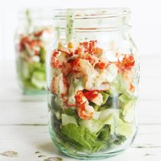 Sweet crayfish, crisp lettuce, creamy avocado and a zingy herb dressing. This is the perfect lunch to pack up for work