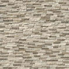 Stacked natural stone ledger panels and split face mosaics bring tactile and architectural details to walls by transforming it into a stunning feature. Stone Mosaic, Stone Tiles, Marble Wall, Wall Tiles, Stacked Stone Panels, Stacked Stones, Stone Veneer Panels, Natural Stone Flooring, Stone Cladding