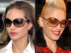 Angelina Jolie and Gwen Stefani wearing Tom Ford sunglasses! #TomFord #sunglasses