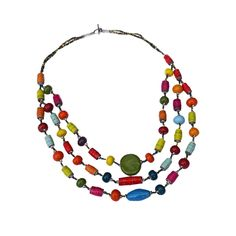 Mixed Multi Strand Necklace