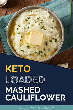 Keto Loaded Mashed Cauliflower Using Frozen Cauliflower Rice (Low Carb) - Trying to eat Keto or low carb but LOVE potatoes? I feel your pain! I had potatoes almost every m - Frozen Cauliflower Rice, Loaded Cauliflower, Mashed Cauliflower, Recipe For Cauliflower Rice, Cauliflower Dishes, Rice Recipes For Dinner, Lunch Recipes, Salad Recipes, Keto Recipes