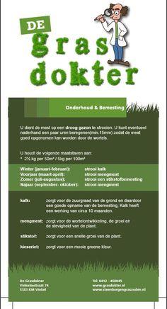 Bemestingsschema gazon voor een mooi groen én gezond gazon