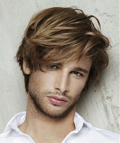 long brown straight coloured multi-tonal Mens hairstyles for men